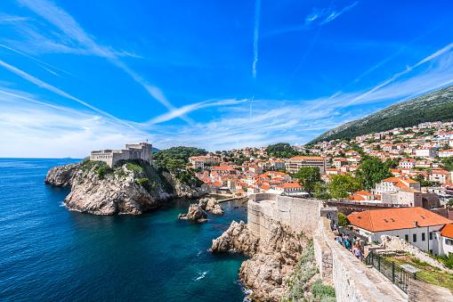 Adriatic Sea「View of Fort Lovrijenac from Dubrovnik City Wall, Croatia」:スマホ壁紙(7)