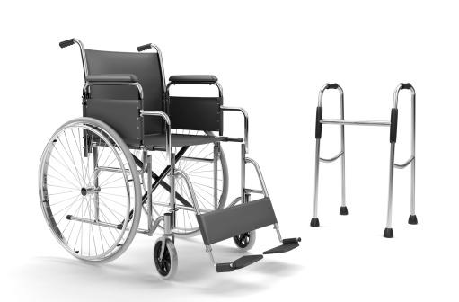 Healing「Wheelchair and Walker on White Background (XXXL)」:スマホ壁紙(9)