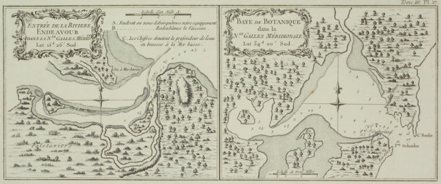 Effort「Antique maps of Botany Bay and Endeavour River in Australia」:スマホ壁紙(14)