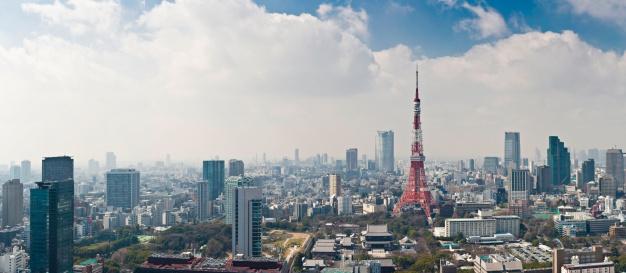 Tokyo Tower「Tokyo Tower downtown skyscrapers landmark cityscape panorama Roppongi Hills Japan」:スマホ壁紙(16)