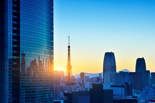 Tokyo Tower「Tokyo Tower and Skyscraper」:スマホ壁紙(6)