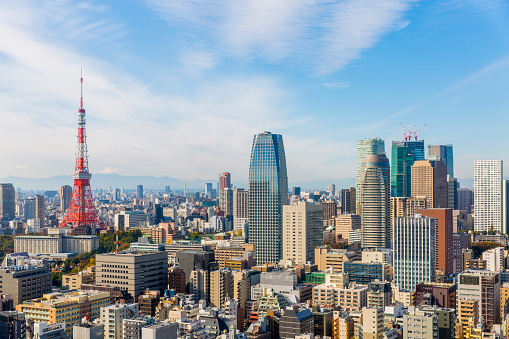 Tokyo Tower「Tokyo tower and cityscape」:スマホ壁紙(3)