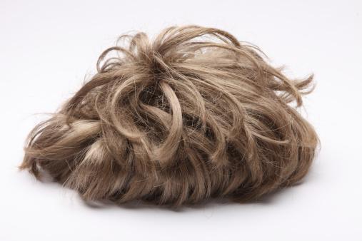 Brown Hair「false wig on the white background Size XXXL」:スマホ壁紙(1)