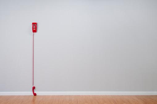 1980-1989「Red Telephone In Empty Room」:スマホ壁紙(12)