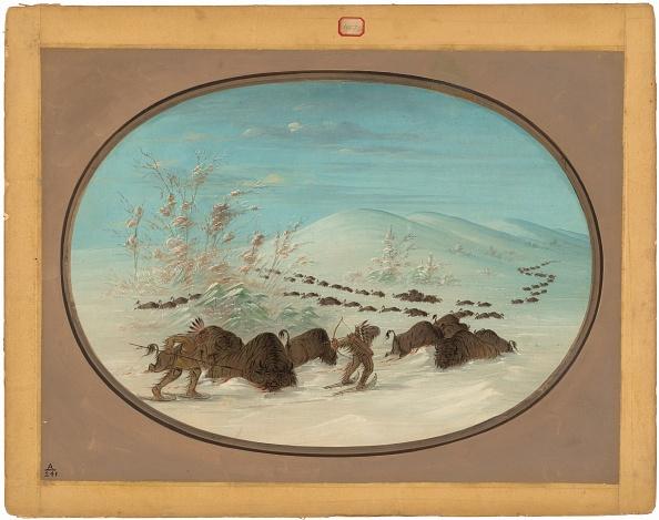 Snowdrift「Buffalo Chase In The Snow Drifts - Ojibbeway」:写真・画像(12)[壁紙.com]