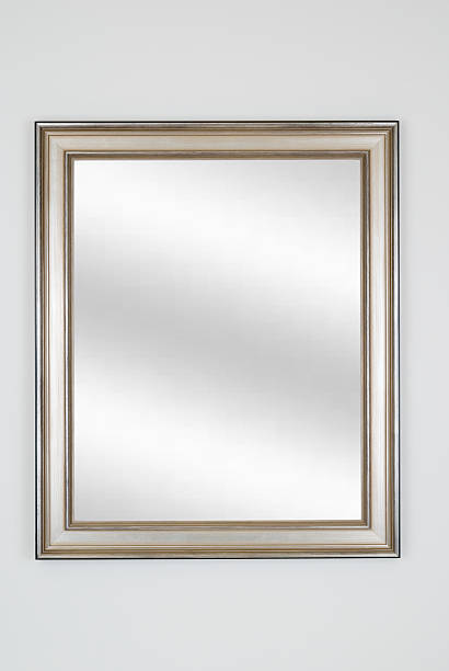 Silver Picture Frame with Mirror, White Isolated:スマホ壁紙(壁紙.com)