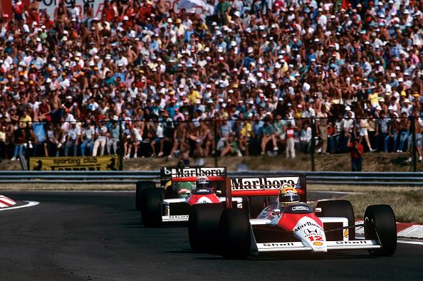 McLaren F1 Team「Ayrton Senna, Alain Prost, Grand Prix Of Hungary」:写真・画像(17)[壁紙.com]