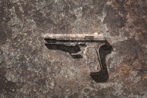 Digital Composite「Handgun which became stone」:スマホ壁紙(4)