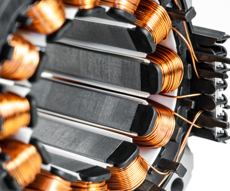 Electric Motor「Electric motor stator winding and stack close-up」:スマホ壁紙(19)