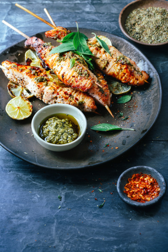 Mediterranean Food「Salmon satay」:スマホ壁紙(18)