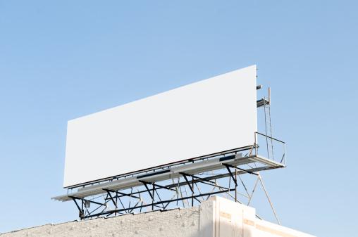 Advertisement「Outdoor blank billboard」:スマホ壁紙(2)