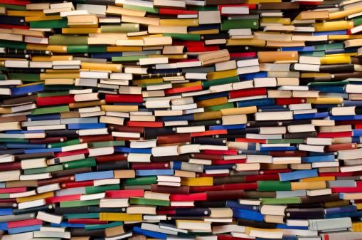 Publication「Huge stack of books - Book wall」:スマホ壁紙(11)