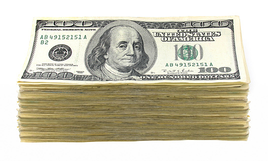 American One Hundred Dollar Bill「Huge Stack of Cash」:スマホ壁紙(5)