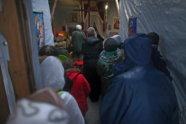 Calais「Christmas Is Celebrated By Orthodox Christians At The Calais Jungle」:写真・画像(17)[壁紙.com]
