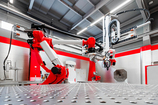 Robotics「Automatic robotic machinery for welding in factory」:スマホ壁紙(8)