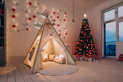 Bedroom「Kids Room At Christmas」:スマホ壁紙(0)