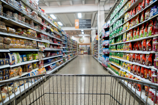 For Sale「Shelves of the supermarket filled with products – No people」:スマホ壁紙(18)