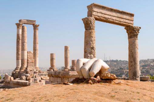 Ancient Rome「Temple of Hercules at Amman Citadel in Jordan」:スマホ壁紙(18)