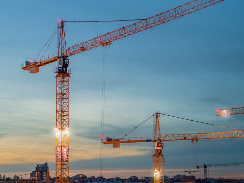 Crane - Construction Machinery「Aerial - Construction Cranes」:スマホ壁紙(19)