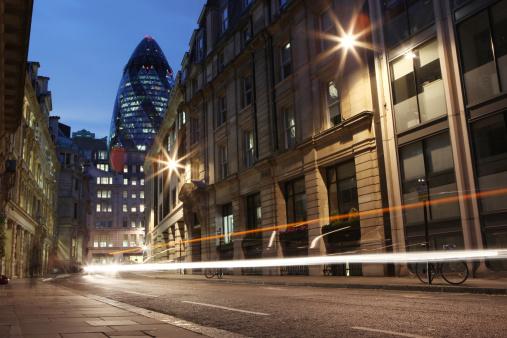 Light Trail「City of London at Night」:スマホ壁紙(15)