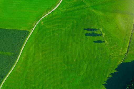 Dirt Road「Germany, Chiemgau, Prien, field way and field in summer」:スマホ壁紙(17)