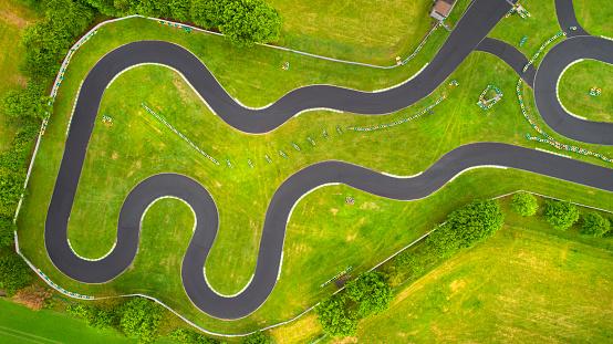 Motorsport「Abandoned Go-Cart track - aerial view」:スマホ壁紙(19)