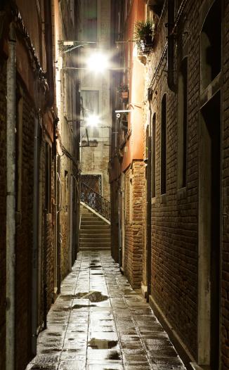 Paving Stone「Narrow alley in Venice after rain」:スマホ壁紙(14)