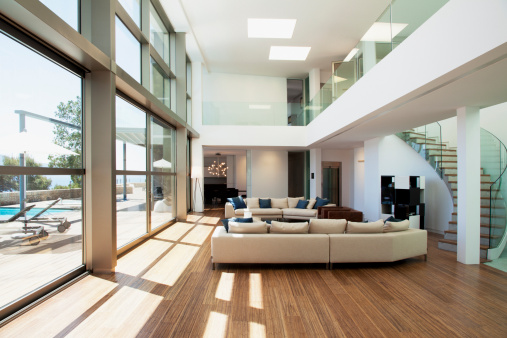 Fashion Industry「Open living space in modern house」:スマホ壁紙(12)