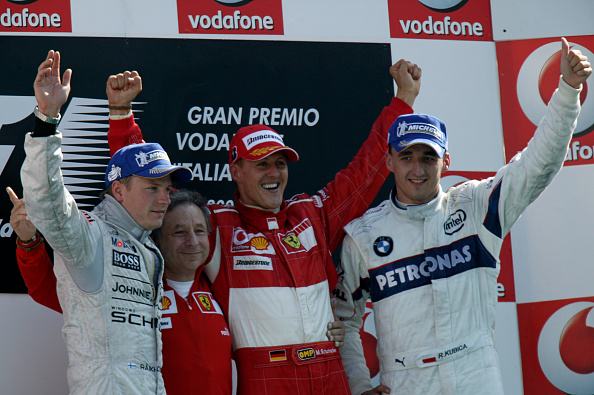 Paul-Henri Cahier「Micheal Schumacher, Jean Todt, Kimi Raikkonen, Robert Kubica, Grand Prix Of Italy」:写真・画像(13)[壁紙.com]