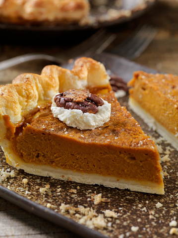 Glazed Food「Pumpkin Pie with Candied Pecans and Whip Cream」:スマホ壁紙(4)