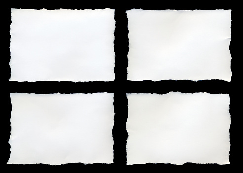 Rectangle「Four torn pieces of paper on a black background」:スマホ壁紙(15)