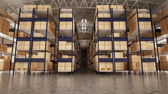 Transportation「Empty Warehouse Full of Cargo」:スマホ壁紙(4)