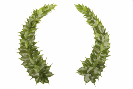 Crown - Headwear「Green wreath isolated on white」:スマホ壁紙(13)