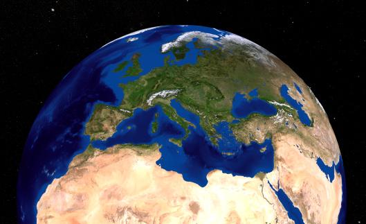 Tyrrhenian Sea「Blue Marble Next Generation Seasonal Landcover.」:スマホ壁紙(11)