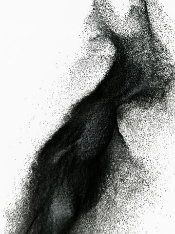 黒砂「Splashing of abstract sand」:スマホ壁紙(17)