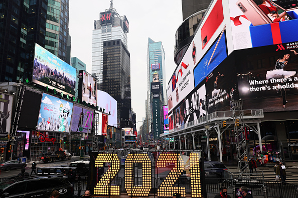 New Year's Eve「New Year's Eve Numerals Arrive In Times Square」:写真・画像(1)[壁紙.com]