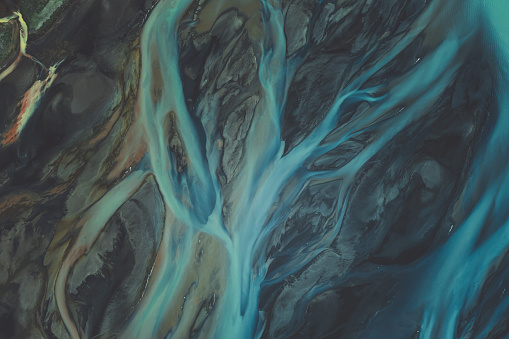 Surreal「Glacial river textures in the southern region of Iceland」:スマホ壁紙(17)