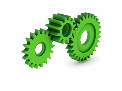 Three Objects「Green Gears」:スマホ壁紙(6)