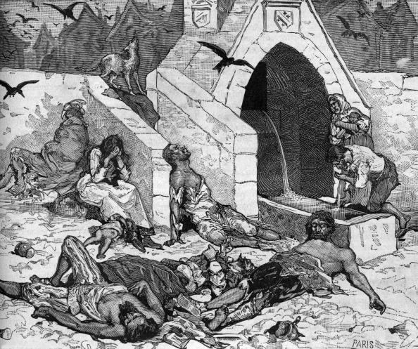 """Bubonic Plague「The plague made many victims in Paris in 1544, engraving taken from the book """"Paris through the centuries, Tome1"""" (1878)」:写真・画像(5)[壁紙.com]"""