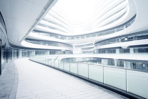 Construction Industry「empty corridor in the modern office building」:スマホ壁紙(12)