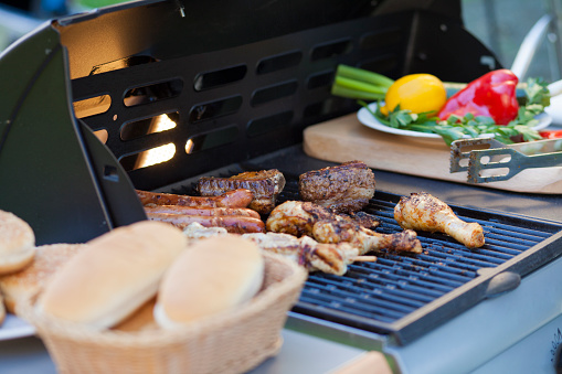 Chicken Meat「Picnic barbecue grill」:スマホ壁紙(1)