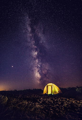 Astronomy「Camping under the stars!」:スマホ壁紙(18)