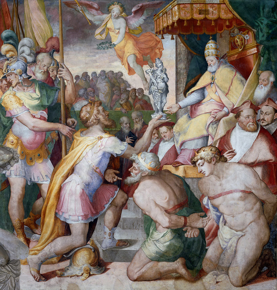Painting - Activity「Emperor Otto I Brings The Church Treasury To Pope John Xii. Back」:写真・画像(14)[壁紙.com]