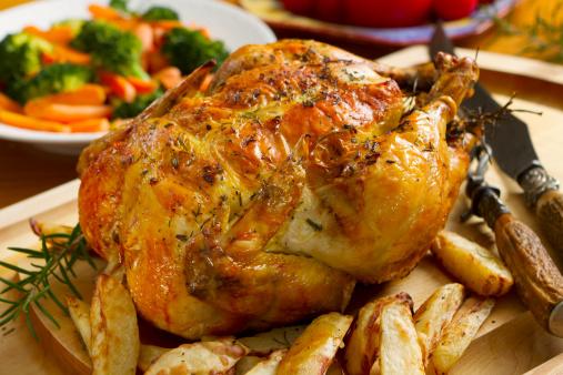 Roast Chicken「Roast chicken dinner, topped with thyme」:スマホ壁紙(14)