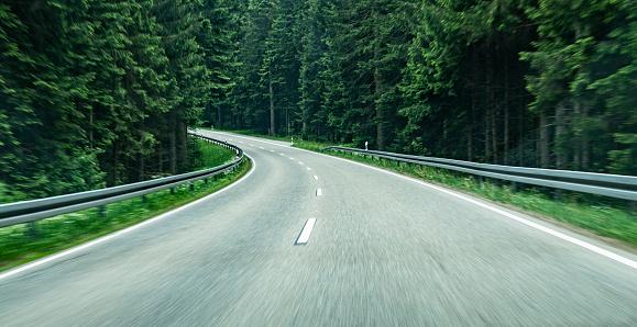 Curve「Driving through a forest , motion」:スマホ壁紙(11)