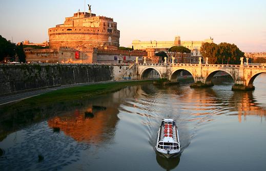 Ancient Civilization「River view of Castel Sant Angelo」:スマホ壁紙(3)