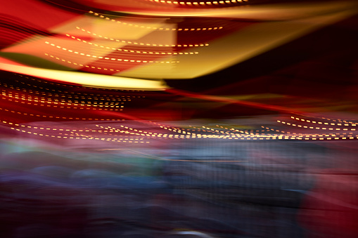 Light Trail「Colorful lights in movement, long exposure」:スマホ壁紙(9)
