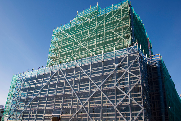 Business Finance and Industry「Reykjavik National Theatre being refurbished. There are many of such buildings in central Reykjavik going through a 'face-lift'. Iceland.」:写真・画像(9)[壁紙.com]