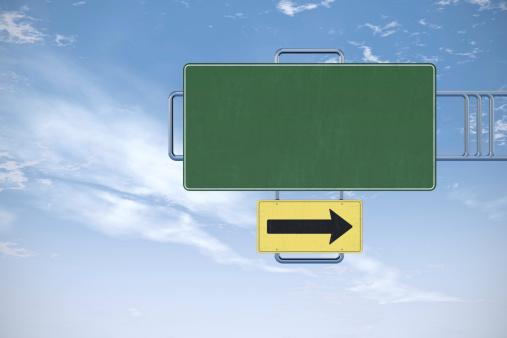 Traffic Arrow Sign「Blank road sign」:スマホ壁紙(2)