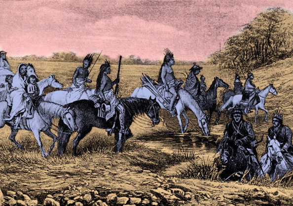 Horse「Navajo Indians on the trail」:写真・画像(2)[壁紙.com]